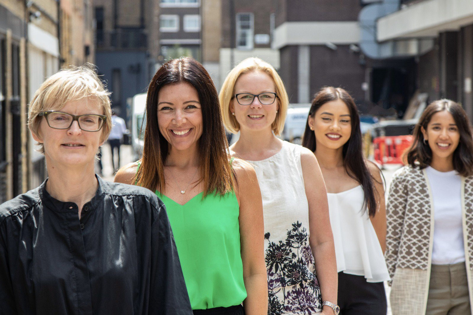First Wealth's Women in Finance – Claire, Zoe, Kerry, Humaira and Caroline